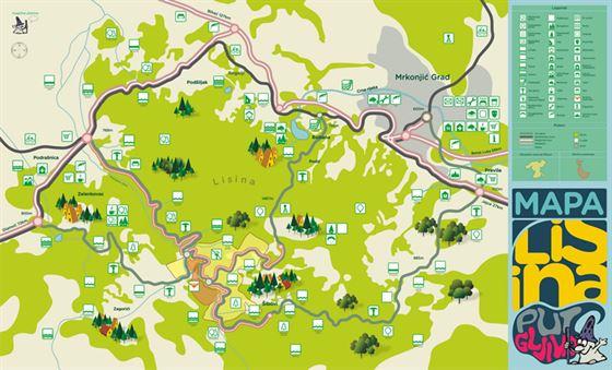 lisine mapa Promocija projekta Put gljiva   .mrkonjic grad.com lisine mapa